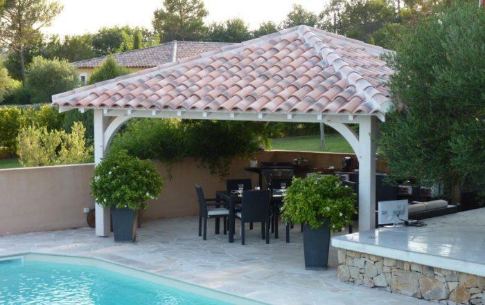 pool house 4 pentes