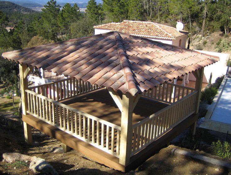 pool house 4 pentes surélevé